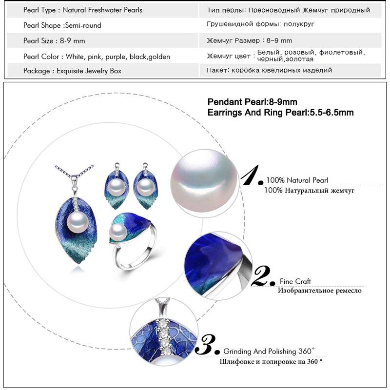 FENASY Pearl զարդերի հավաքածու 925 ստերլինգ - Նուրբ զարդեր - Լուսանկար 6