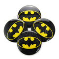 4 unids Batman logo 60 mm dirección del centro de rueda Hub Cap emblema Auto insignia Decal Sticker símbolo llanta The Dark Knight #4419
