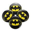 4pcs Batman logo 60mm Steering Wheel Center Hub Cap Emblem Auto Badge Decal Symbol Sticker rim The Dark Knight  #4419