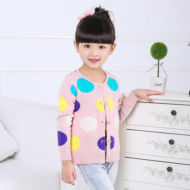2016 Outono Crianças Meninas Suéter Chandail Enfants Filles Bebê Menina Casaco de Malha Suéter de Tricô Quente Padrão 70J042