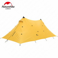Naturehike Outdoor Twin Peaks Camping Sun Shelter Large Canopy Tent 20D Silica Gel Sun Shelter Rainproof Windproof Awning