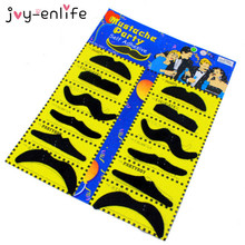 JOY-ENLIFE 12pcs Funny Costume Pirate Party Mustache Cosplay Fake Moustache Fake Beard For Kids Adult Halloween Party Decoration