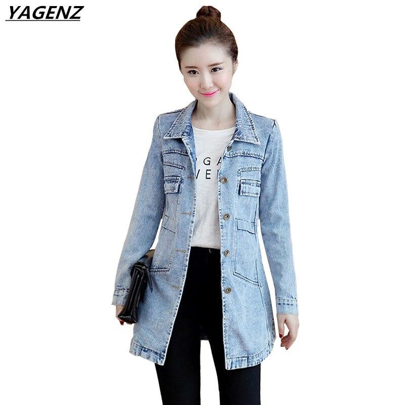 Aliexpress.com : Buy YAGENZ Spring Denim Jacket Women's Clothing ...
