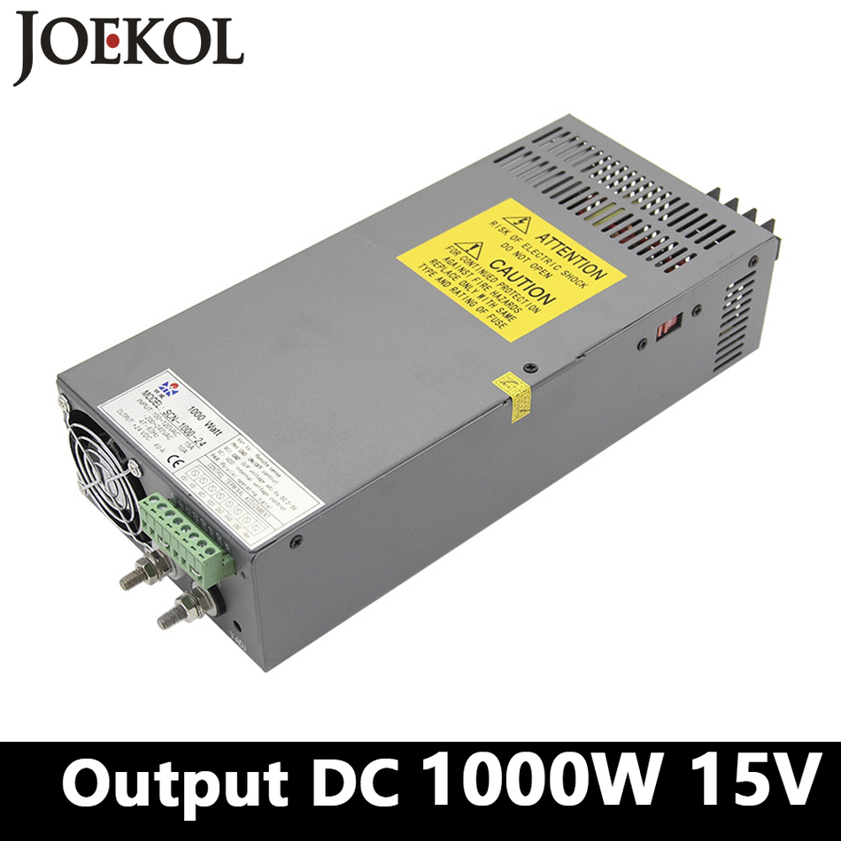 High-power switching power supply 1000W 15v 66A,Single Output ac dc power supply for Led Strip,AC110V/220V Transformer to DC 15V power pw6236frmks