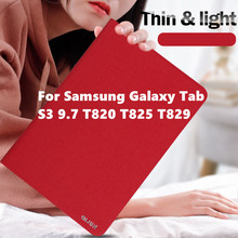 Case For Samsung Galaxy Tab S3 9.7 Tablet Cover Ultra-thin transparent bracket SM-T820 T825 T829 Cases