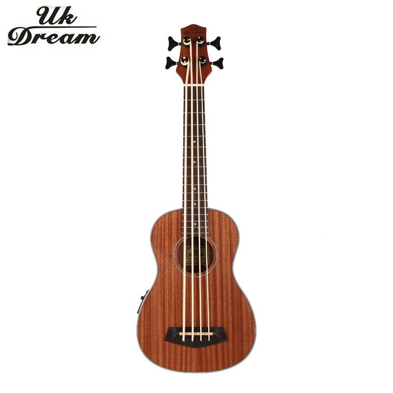30 pulgadas Mini Instrumentos Musicales Guitarra Electrica Completa Ukulele 4 cu