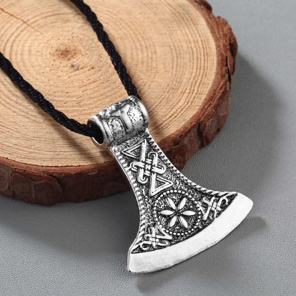 CHENGXUN Slavic Perun ขวานโบราณ Amulet Kolovrat สัญลักษณ์ Pagan เครื่องประดับพระเครื่องและ Talismans จี้สำหรับ Brother ของขวัญ