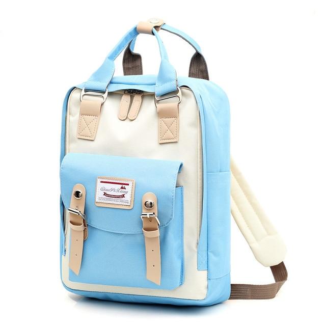 Multifunction women backpack girls shoulder bag High quality canvas laptop backpack schoolbag for teenager girls boys travel 2