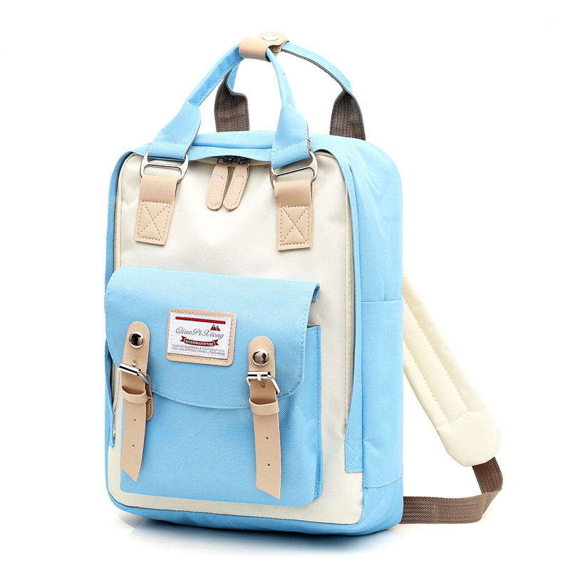 Image 3 - Multifunction women backpack girls shoulder bag High quality canvas laptop backpack schoolbag for teenager girls boys travel-in Backpacks from Luggage & Bags