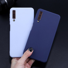 For Samsung Galaxy A7 2017 Case Candy Color Cover For Samsung A7 2018 A50 A3 A5 A7 2017 A6 A8 Plus Soft TPU Silicone Case Fundas все цены