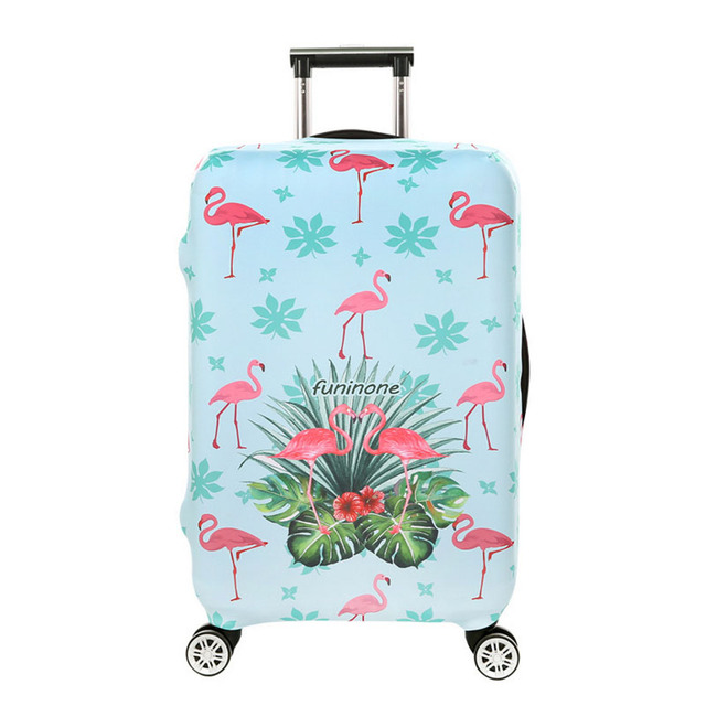 ODBIC 3D Flamingo Elastic Luggage Protective Covers for 18-32 Inch Suitcase Thick Dust Pink Cover Travel Bag Case Cove Luggage Covers
