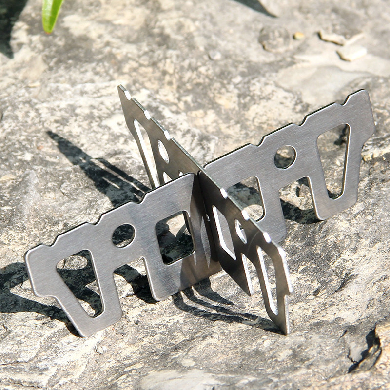 Titanium Stove Portable Camping Picnic Alcohol Cross Bracket Outdoor Burner