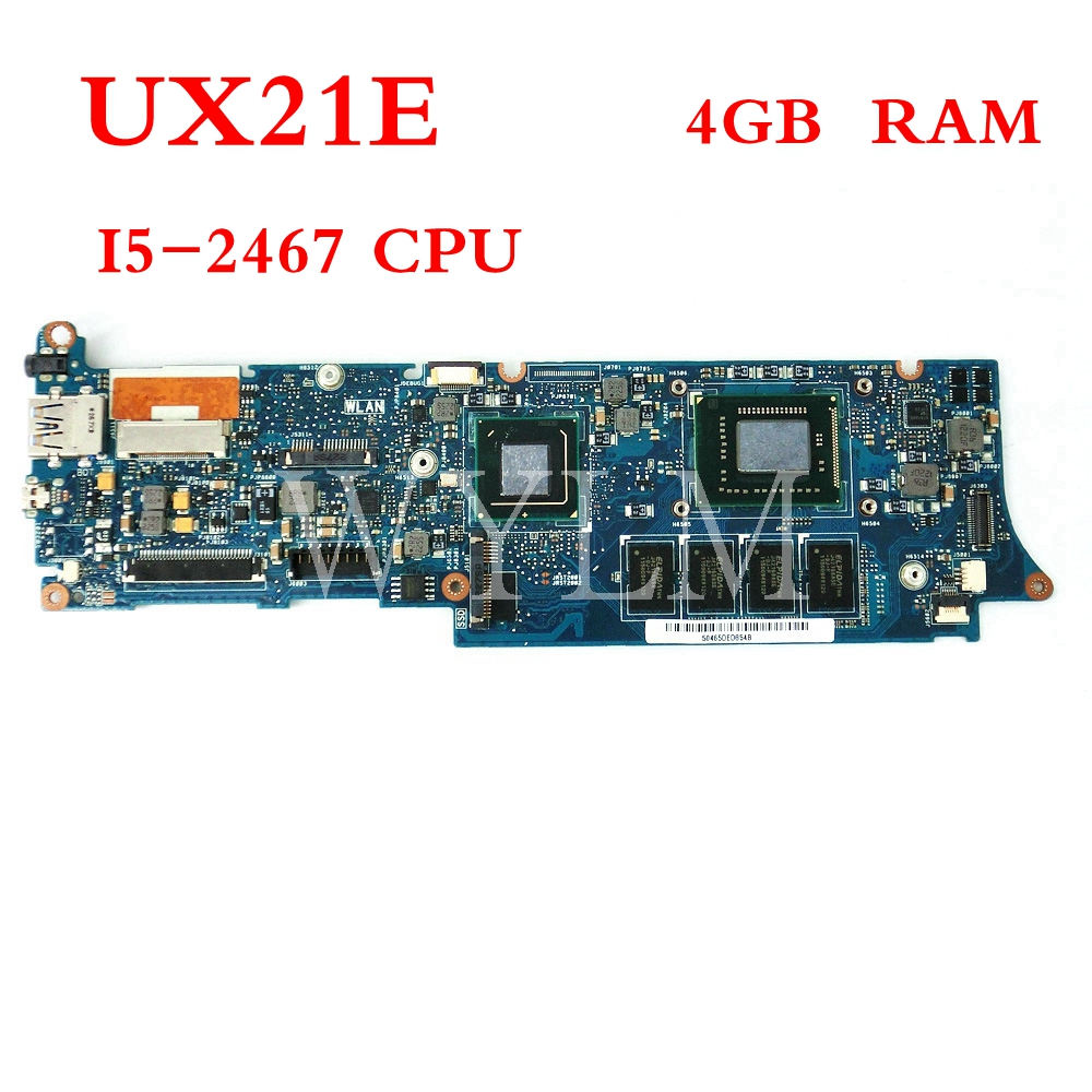 UX21E With I5-2467CPU 4GB RAM mainboard For ASUS UX21 UX21E Laptop motherboard MAIN BOARD 100% Tested Working FREE SHIPPING free shipping k42dr mainboard rev2 3 for asus a42d k42d k42dy k42dr laptop motherboard tested working