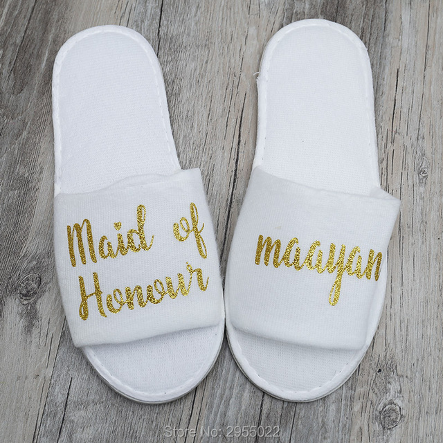 5b73c0d67 personalized Wedding Slippers