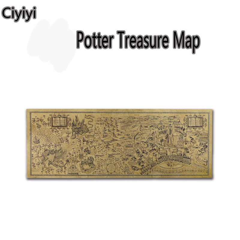 Harri Potter Treasure Map Cosplay Toy Children Party Show Magic World Wall Decoration Toys Halloween Kids Room Decoration Joute