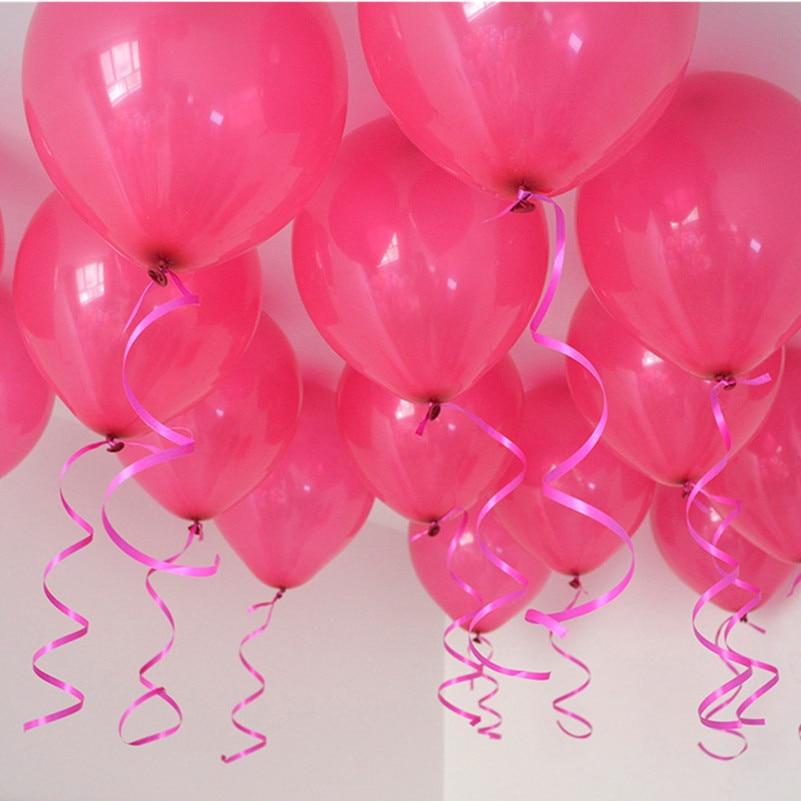 Ballons en latex rose chaud