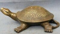 """JP S0606 10 """"Chiński Spiżowy Folk FengShui Długowieczność Shou Sea Turtle Statua Rzeźby w Posągi i rzeźby od Dom i ogród na"""