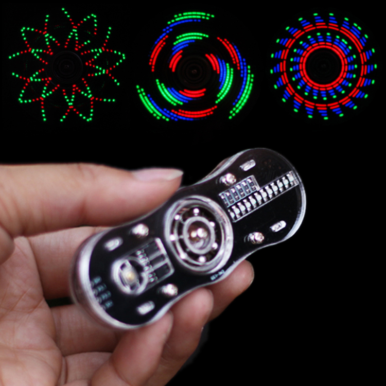 eletronic led Fingertip gyro Making kit Display text pattern Programmable