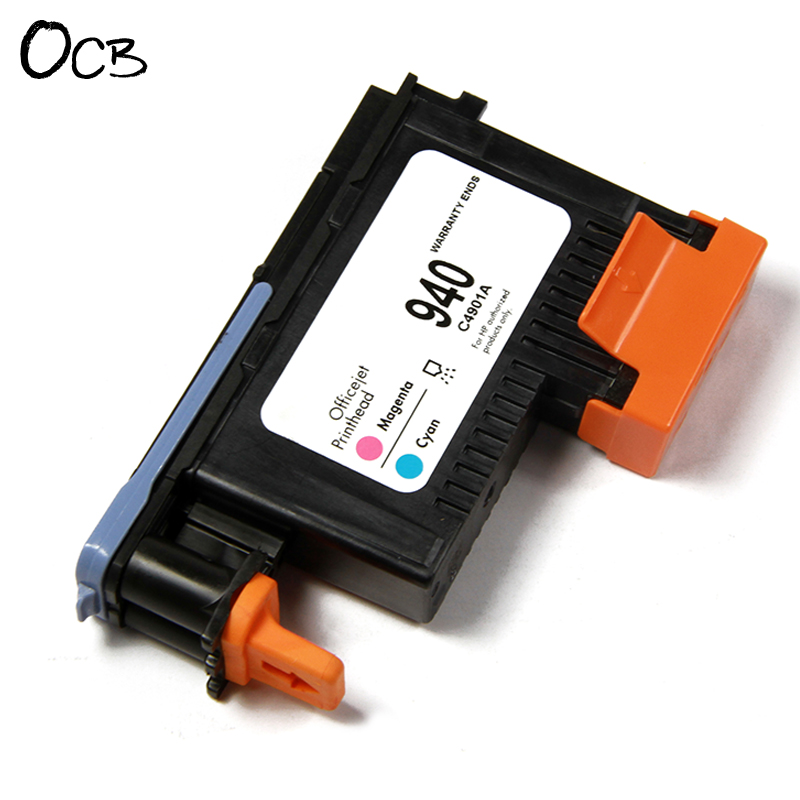 2 Pieces For HP 940 Original Printhead For HP Officejet Pro 8000 8500 A809a A809n A811a A909a A909n A909g A910a (C4900A C4901A) 940 magenta cyan black yellow printhead c4901a c4902a for hp officejet pro 8500 8000