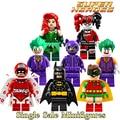 Bloques de construcción de joker batman robin poison ivy calendario de pueblo harley quinn catwoman diy figuras niños diy juguetes educativos