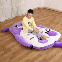 200 120cm Giant Large Totoro Bed Sofa Soft Plush Memory Foam Mattress Pad Cartoon Tatami Purple