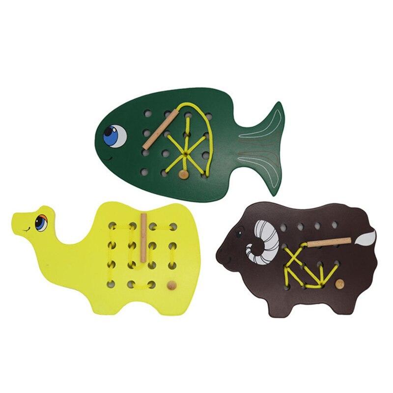 Bambin enfants motricité Fine jeux éducatifs Montessori en bois apprentissage préscolaire maternelle bébé Animal jouet Educativo
