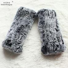 Linhaoshengyue Настоящий мех кролика женские перчатки на пальцы