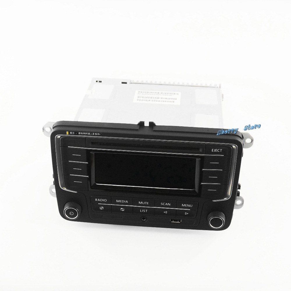 OEM Unused Car Radio with USB AUX MP3 SD Card 3AD035185 Fit VW Golf Jetta MKV Tiguan Passat CC NEW POLO  6R oem genuine car parts oil pump assembly 06j 115 105 ac fit vw golf tiguan gti jetta passat engine 1 8tsi 2 0tsi new