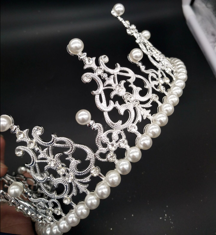 4pcs for pack Pearl bride crown headdress