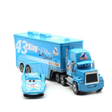 Disney Pixar Cars Mack Lightning McQueen & Chick Hicks King Fabulous Hudson Truck Toy Car 1:55 Loose New Free Shipping