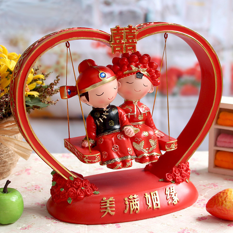 Asian Wedding Gift Baskets: Creative Wedding Gift Chinese Wedding Doll Ornaments High