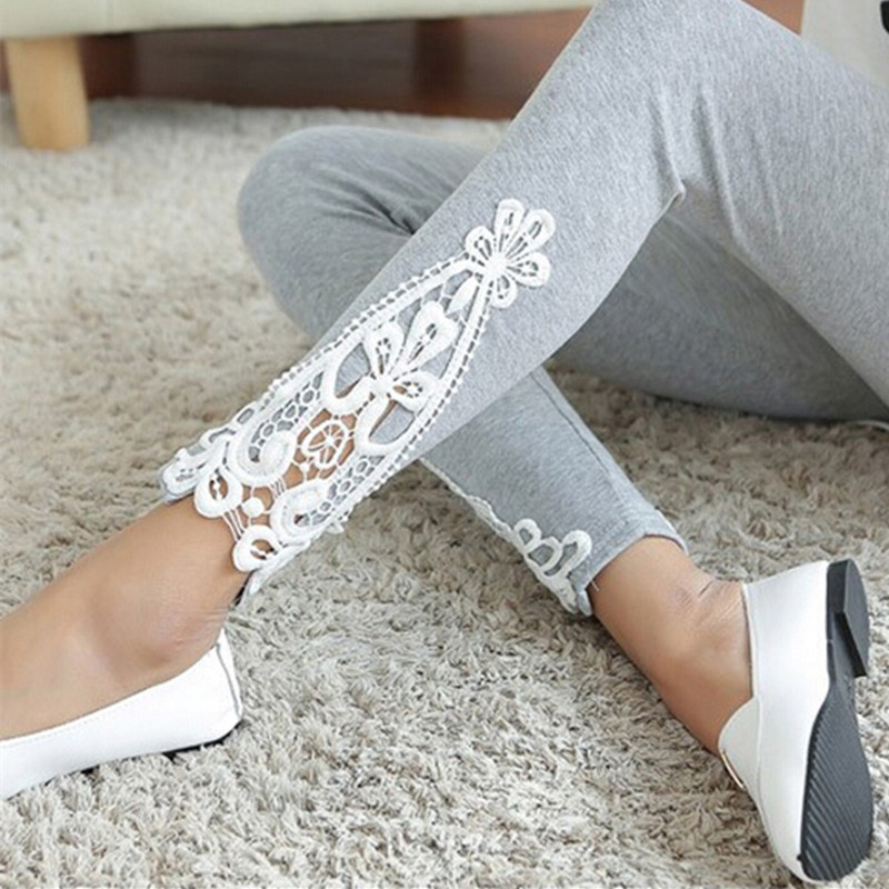 New Fashion Womens Lace Crochet patchwork Sexy Skinny Leggings Stretch hot ladies high waist long pants Trousers short dresses office wear
