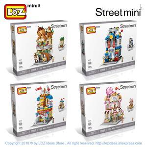 Image 5 - LOZ ミニレンガシティビューシーンミニストリートモデルビルディングブロックおもちゃゲームルームキャンディーショップ玩具店アーキテクチャ子供 DIY