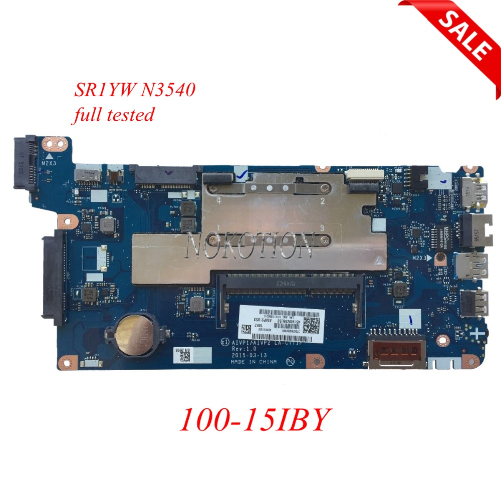 NOKOTION Laptop Motherboard for Lenovo 100-15IBY 5B20J30778 AIVP1/AIVP2 LA-C771P SR1YW N3540 CPU DDR3L Main board full tested