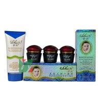 Shiqi beauté blanchiment de coiffure crème pour le visage 3 en 1 costume élimination des taches de rousseur enlever pigment et spot noir bouteille rouge couverture