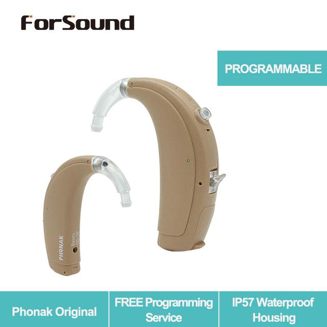 Phonak Original Super Power 2 Channel Digital Programmable BTE Hearing Aid Baseo Q5 SP FREE Programming Fitting Service