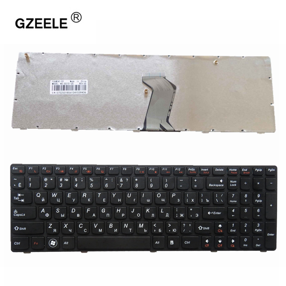 GZEELE New For <font><b>Lenovo</b></font> G570 G575 <font><b>Z560</b></font> Z560A Z565 Z560G Ru russian keyboard 25012436 V-117020CS1-RU RU with FRAME MP-10A33SU-6864 image