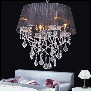 Crystal New Glass Crystal 48cm 4 40w Lamps Chandelier