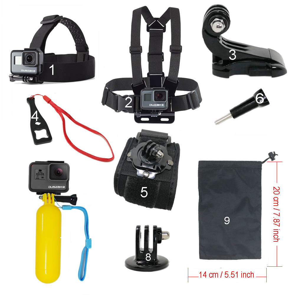 Accessories set for Gopro hero 5 For Yi 4K Chest Head Mount Strap Float bobber For Go pro SJCAM For Eken Sport Action Camera