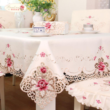 European garden table cloth fabric upholstery Xin Tong living room set 1017