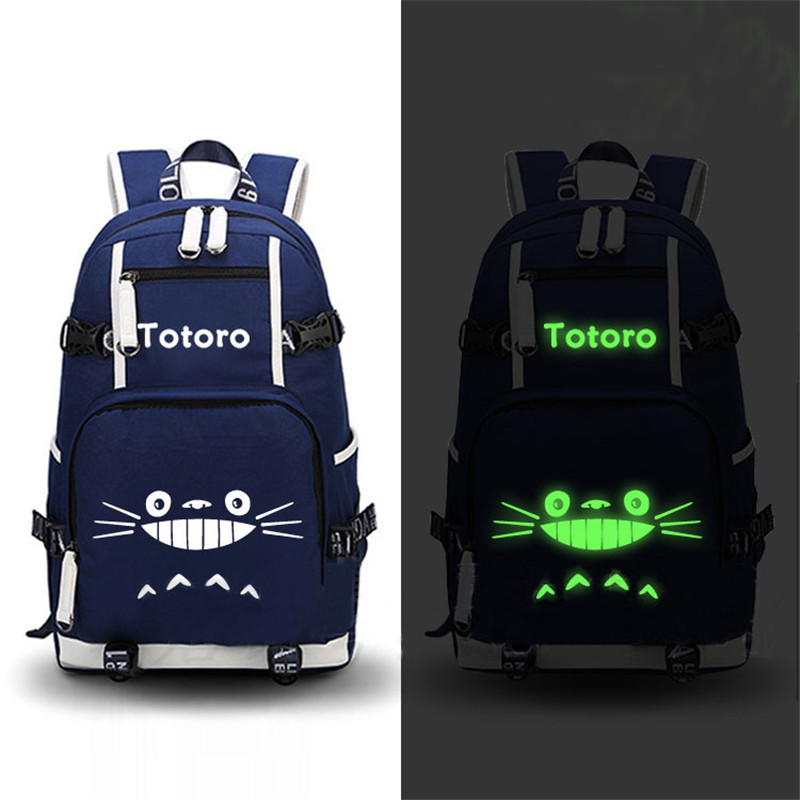 High Quality Anime My Neighbor Totoro Printing Backpack Canvas Kawaii School Bags Mochila Feminina Fashion Laptop Backpack high quality 2017 hot anime detective conan only one truth prevails luminous printing backpack laptop bag mochila feminina