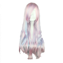 MCOSER 70 cm Long Wavy for women Mix Color Synthetic Cosplay Wigs 100% High Temperature Fiber Hair WIG-506A(China)