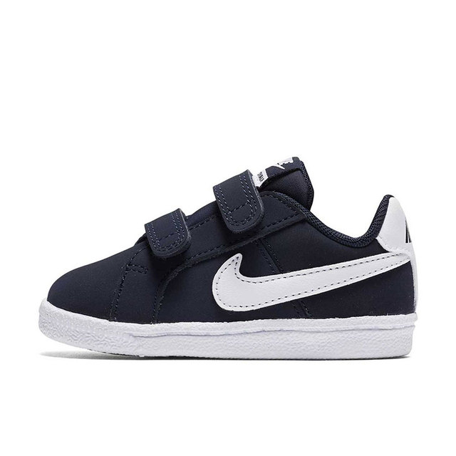 9718bdb19 Original NIKE COURT ROYALE (TDV) Baby Boy Lightweight Casual Sneakers Girl Children  Kids Leather Breathable Sport Shoes