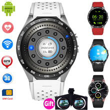 KW88 Smart Uhr Quad-Core Android 5.1 Intelligente Uhr 400*400 Smartwatch Wifi Bluetooth 4,0 Armbanduhr Herzfrequenz 2.0MP Kamera