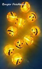 New 1 Set Pumpkin 10 LED String Lights Halloween Decoration Lights Warm White Halloween Home Decoration Accessories