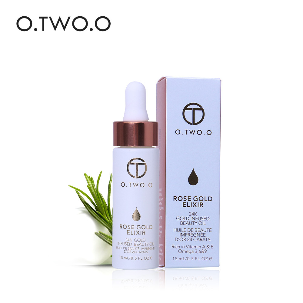 O.TWO.O 24k Gold Elixir Face Lip Essential Oil Anti Aging Oil Brighten Moisturizer Serum F