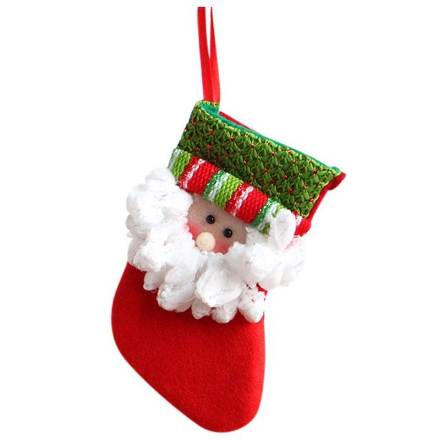 hot christmas candy bag christmas santa snowman sock candy gift bags party items candy bag 1
