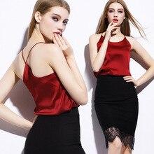 In the summer of condole belt vest dress silk back cross render unlined upper garment of Europe and AmericaSK25