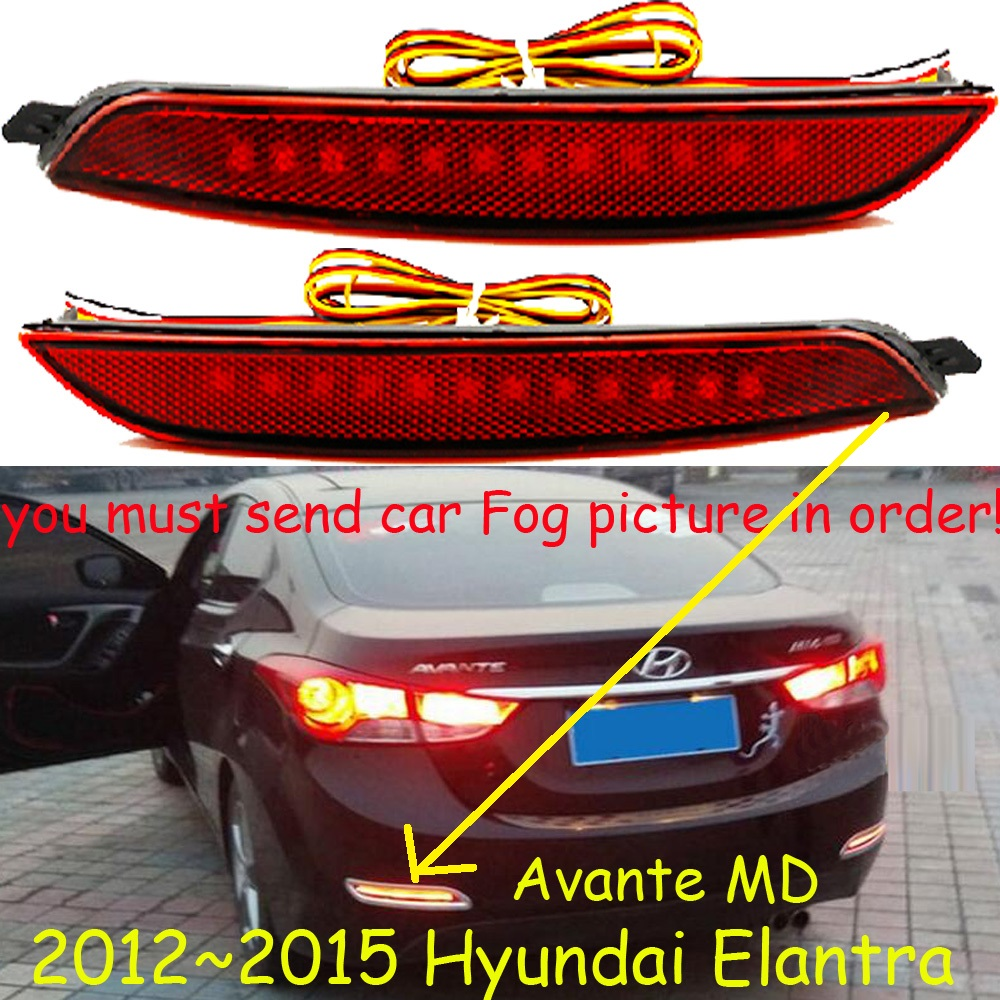 Free ship!LED,Elantra rear light,2012~2015,2pcs,(Send your car Fog light picture in order before I permit your do payment)