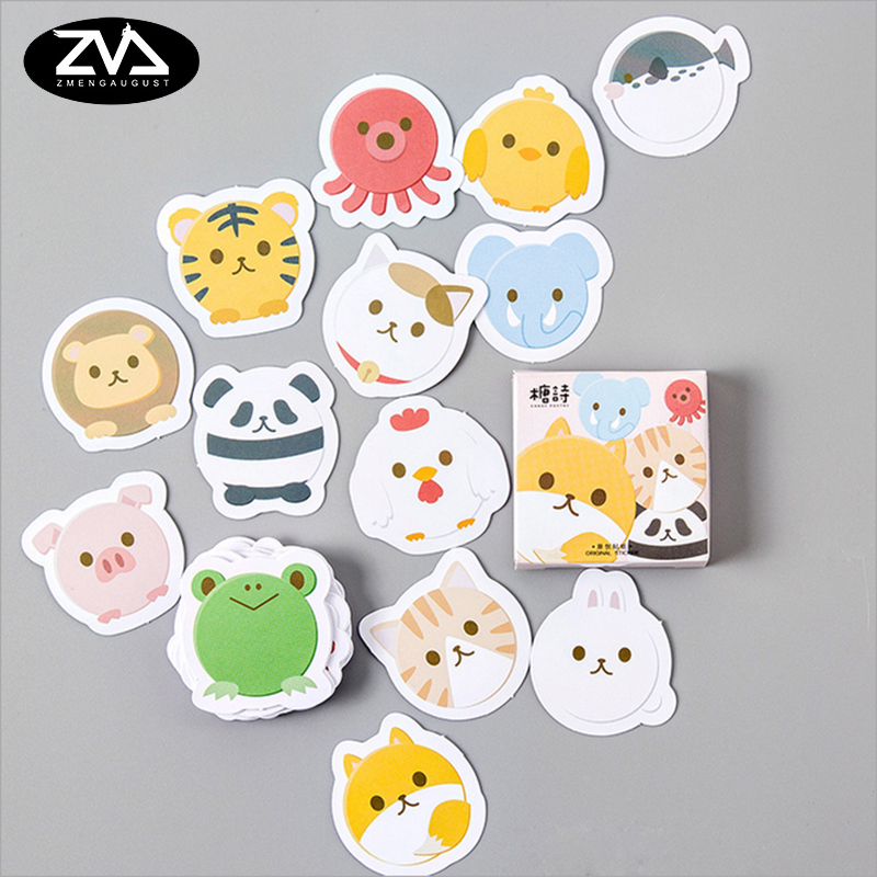 45pcs/pack Kawaii small animals Stickers Cute Diary Decoration Scrapbooking DIY seal Sticker office Stationery Free shipping